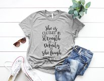she is clothed in strength and dignity and laughs without fear of the future Printable Product Image 1