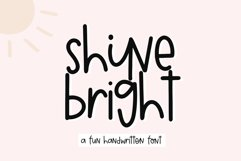 Shine Bright - A Quirky Handwritten Font Product Image 1