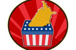 American election ballot box map of USA Product Image 1