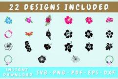 22 Hibiscus SVG Bundle, Hibiscus Cut Files Product Image 1