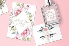 Pink Roses Watercolor Bundle Product Image 2