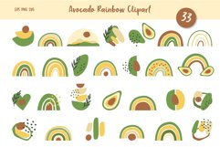 Avocados and Rainbows Clipart, Abstract Shapes, EPS, PNG Product Image 1