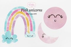 Watercolor baby unicorn clipart, hand painted unicorns Product Image 4