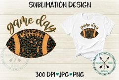 Game Day Leopard Football Sublimation Design Product Image 1