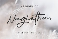 Nagietha - Handwritten Font Product Image 1