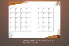 Undated monthly planner A5. Printable Monday week start Product Image 2