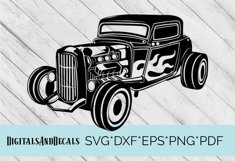HotRod Classic Truck  SVG Cutting File  Product Image 1