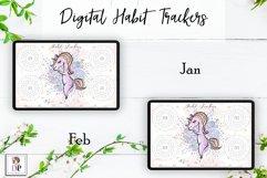 Digital Habit Trackers Y7 Yoga Series for Planner PRINTABLE Product Image 2