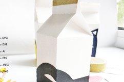 Milk box svg template candy box svg treat box template svg Product Image 3