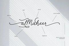 Almaheera - modern monoline font Product Image 5