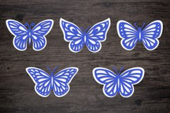 layered butterfly stencil for papercut
