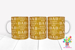 Happy Fathers Day Sublimation Mug Design / Mug Wrap 13 Product Image 1