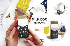 Milk box svg template candy box svg treat box template svg Product Image 1
