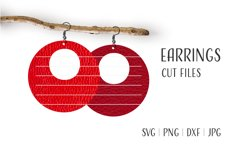 Round Earrings Svg, Earrings Svg, Circle Hoop Earrings Svg Product Image 1
