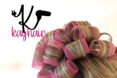 Hairdresser - Hair stylist - Monogram Font Product Image 2
