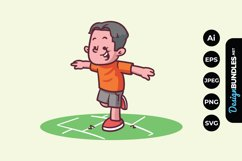 Little Boy Playing at the Park Product Image 1