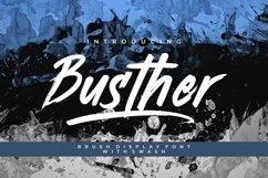 Busther - Handbrush Typeface Product Image 1