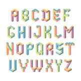 Isometric geometric letters Product Image 3