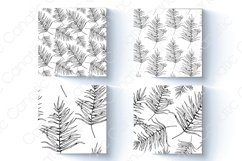 Palm leaf. Hand-drawn sketch and seamless patterns with it. Product Image 2