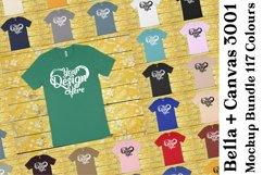 Bella Canvas 3001 Mockup Bundle Clean T-Shirt Mock Ups 347 Product Image 1