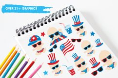 Baby 4th of July graphics and illustrations Product Image 3
