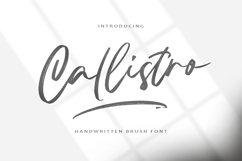 Callistro    BRUSH FONT Product Image 1