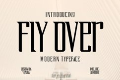 Fly Over | Modern Typeface Font Product Image 1