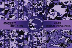 Purple fashionable digital paper pack, Instant download Product Image 1