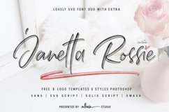 Janetta Rossie   Font Duo SVG extra Product Image 1