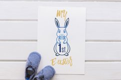 Easter Bunny SVG, Easter Decorations, Easter Clipart SVG Product Image 3