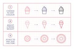 Line Icons - Dessert Product Image 3