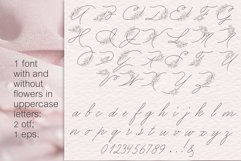 Peony flowers procreate stamp brushes, clipart Product Image 6