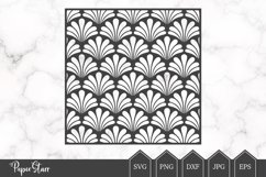Scallop Background SVG / DXF Cut File Product Image 1