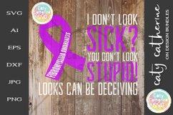 Fibromyalgia Awareness I Don't Look Sick? SVG Product Image 1