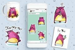 Cute Owls - sticker pack Product Image 3