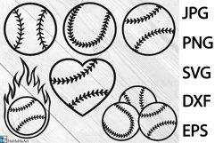 Baseball Balls Designs - Clip art / Cutting Files 1340c Product Image 1