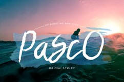 Pasco Font Product Image 1