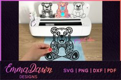 BAXTER THE BEAR SVG MANDALA / ZENTANGLE DESIGN Product Image 4