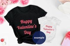 Valentine's day Black t-shirt & Baby bodysuit Mockup PSD Product Image 3