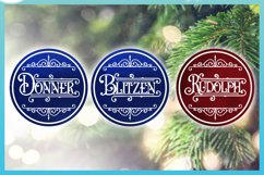 Reindeer Names Round Ceramic Ornament Christmas Bundle SVG Product Image 3