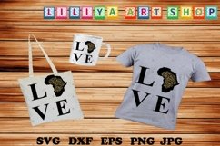 Love Africa svg,Afro woman svg,Black history svg,Black woman Product Image 1