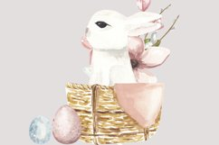Easter bunny png clipart, watercolor cute rabbit sublimation Product Image 4