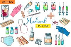 Medical clipart SVG vector set. Nurse SVG. Doctor clipart Product Image 1