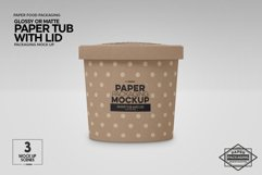 Paper Tub with Lid Packaging Mockup Product Image 3