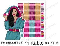 "Christmas Printable Sticker BoxSize 2,25""x1,5"" Product Image 2"