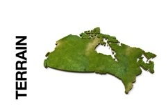 CANADA 3D Maps Images Dry Earth Snow Grass Terrain Product Image 3