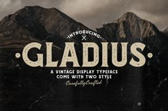 Gladius Vintage Display Typeface Product Image 1