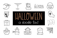 Creep It Real - A Spooky Halloween Doodles Font Product Image 1