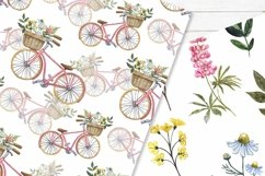 Spring Floral Digital Papers Watercolor Cute Pattern Product Image 3