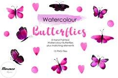 Purple Watercolour Butterflies Product Image 1